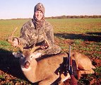 Gennie Holcomb with her first buck