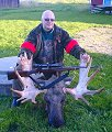 Jan Lindgren with a Bull Moose taken with a 9.3x64
